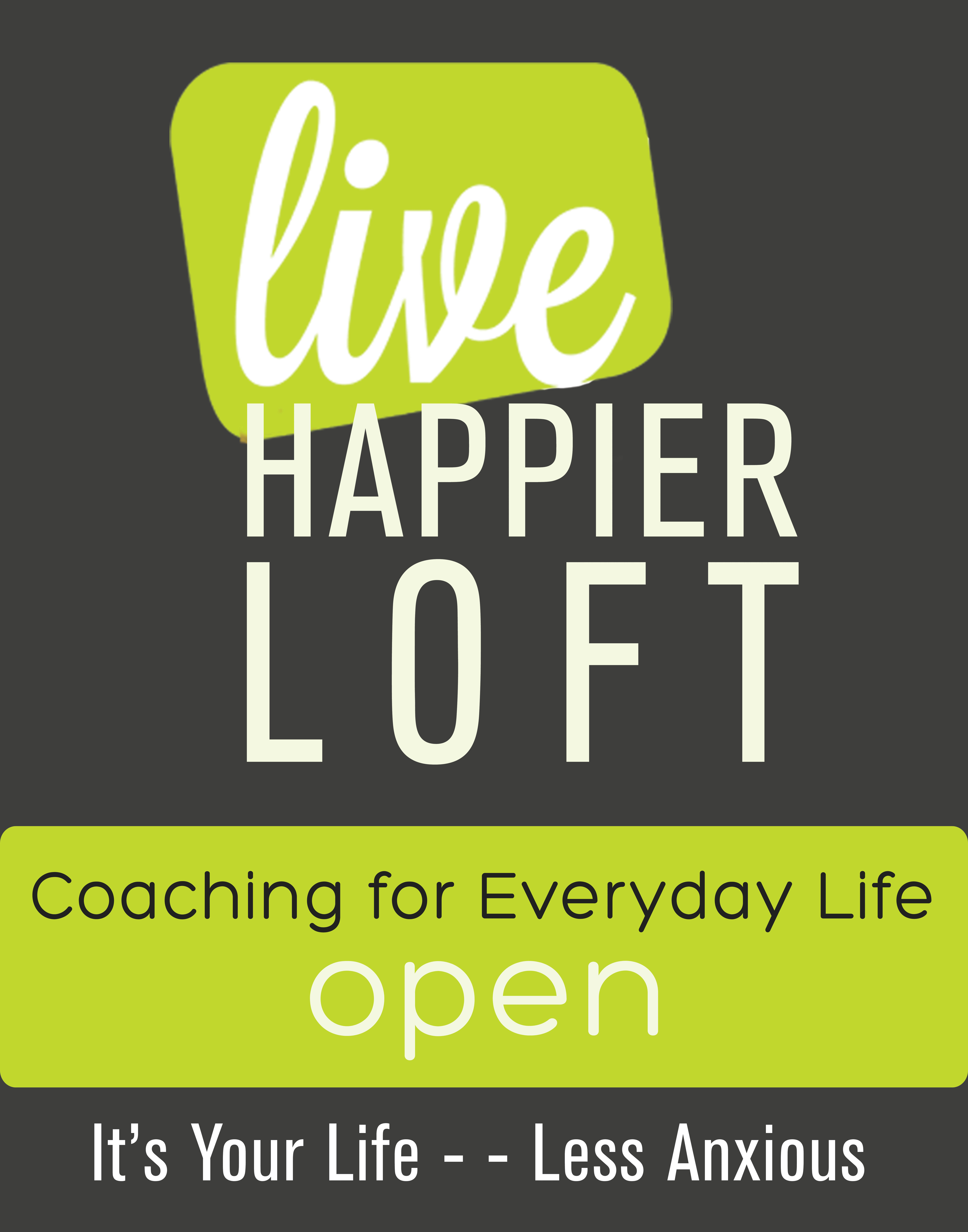 Live Happier Open Sign